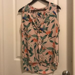 Tops - Tropical print blouse nwot